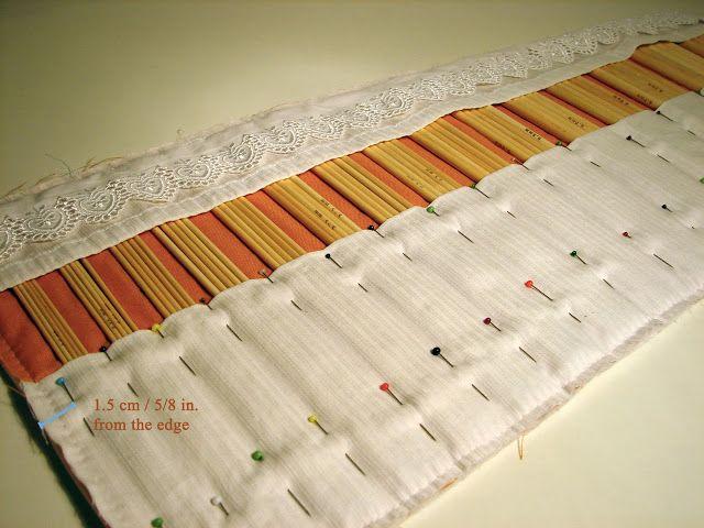 Knitting Needles Roll Tutorial Sewing Knits Pinterest