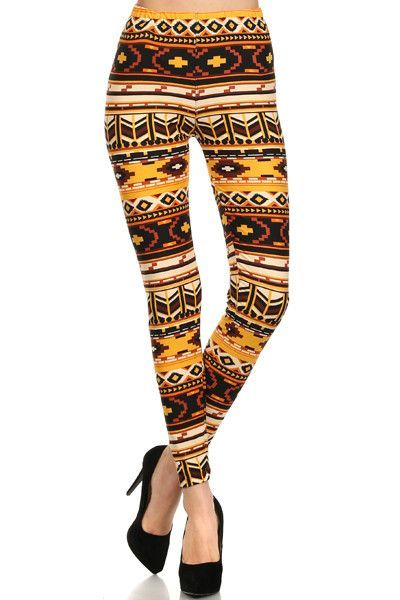Mustard Printed Leggings