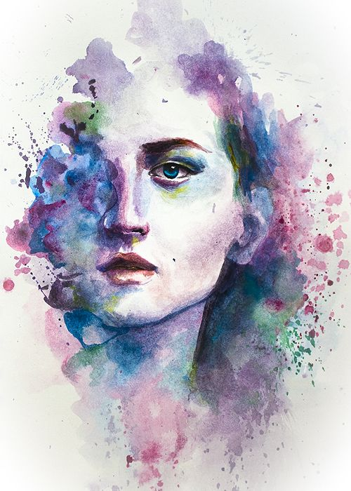 Long Live The Queen Watercolor Portrait Painting Watercolor