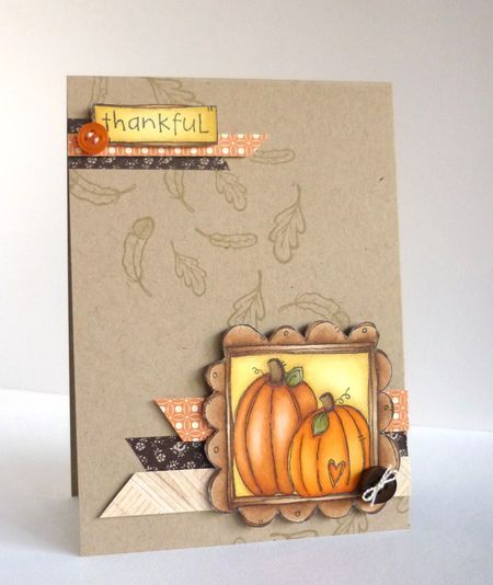 Pumpkin Frame Thankful Card by Alice Wertz