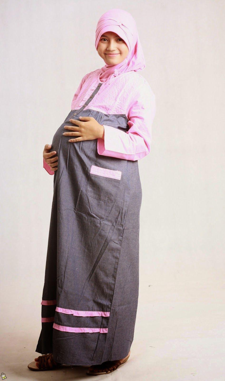 10 Trend Model Baju Hamil Muslim Terbaru Contoh Busana Muslim