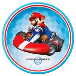 Mario Kart Wii Party Supplies - Mario and Luigi party plates, invitations, decorations, party favors and more! #Mario #Luigi #MarioKartWii