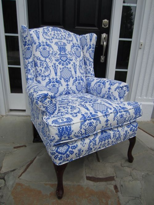 blue and white chair. Blue Marseilles Chair And White