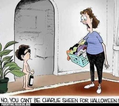 Charlie Sheen for Halloween | Raising Declan | Pinterest