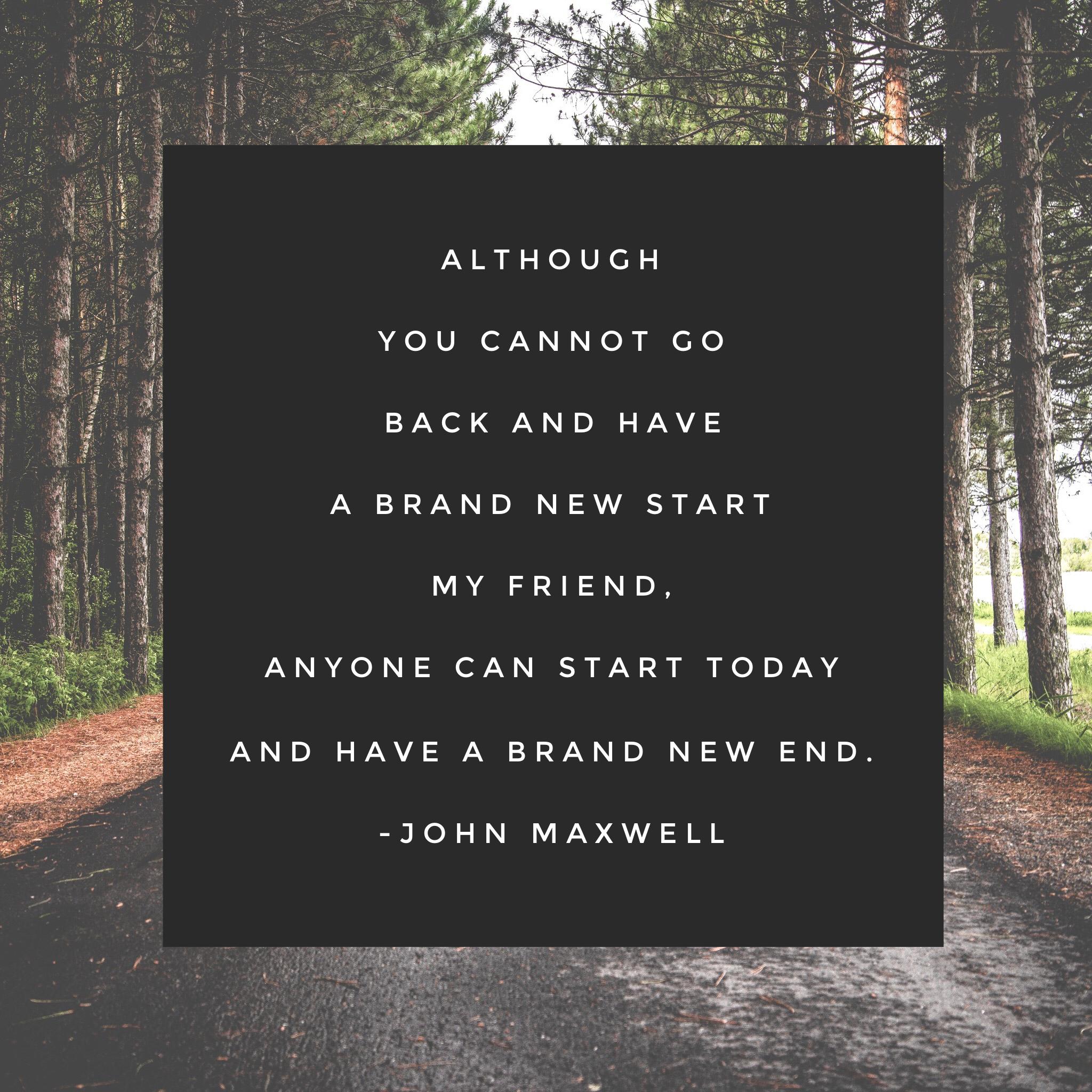 Image result for john maxwell new start