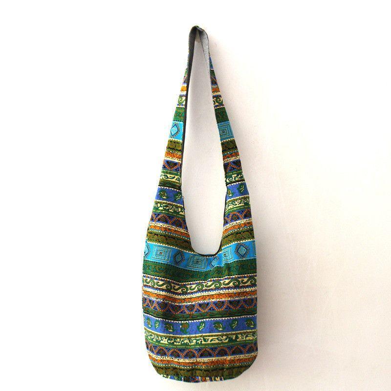 37ade02f0671d9 Vintage Shoulder Bag Aztec Hippie Hippy Gypsy Boho Tribal Big Oversized  Woven Hobo Sling Crossbody Bag