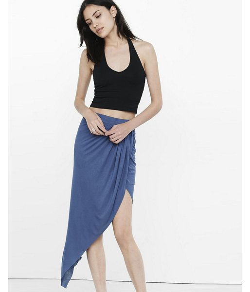 Express One Eleven Cropped Halter Top  Women's