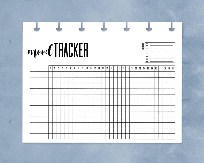 Mood Tracker Happy Planner Mini Mood Chart Printable One