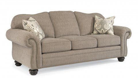 Bexley One-Tone Fabric Sofa With Nailhead Trim By #Flexsteel Via