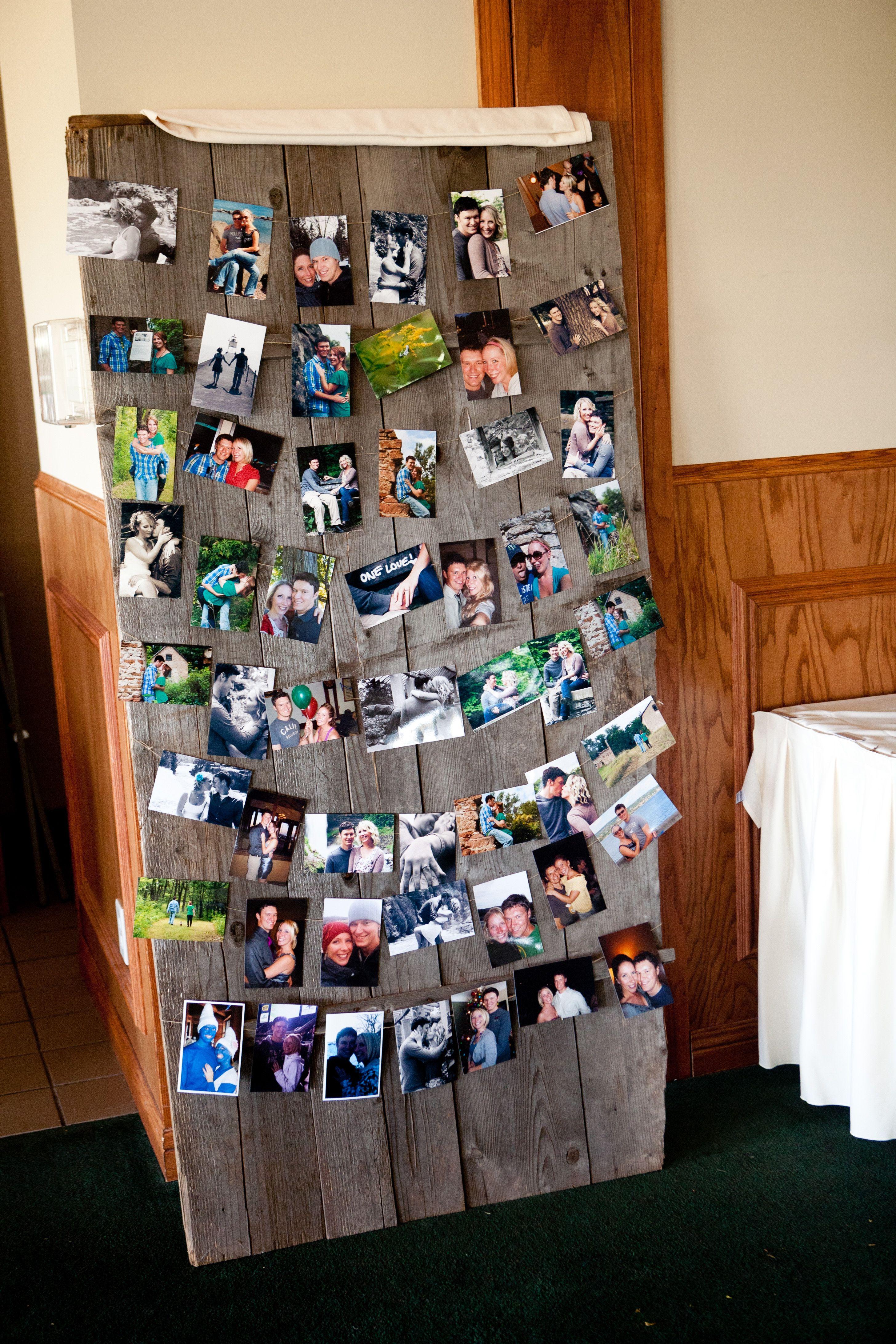 Love This Rustic Looking Photo Board Idea Weddingphotographymn