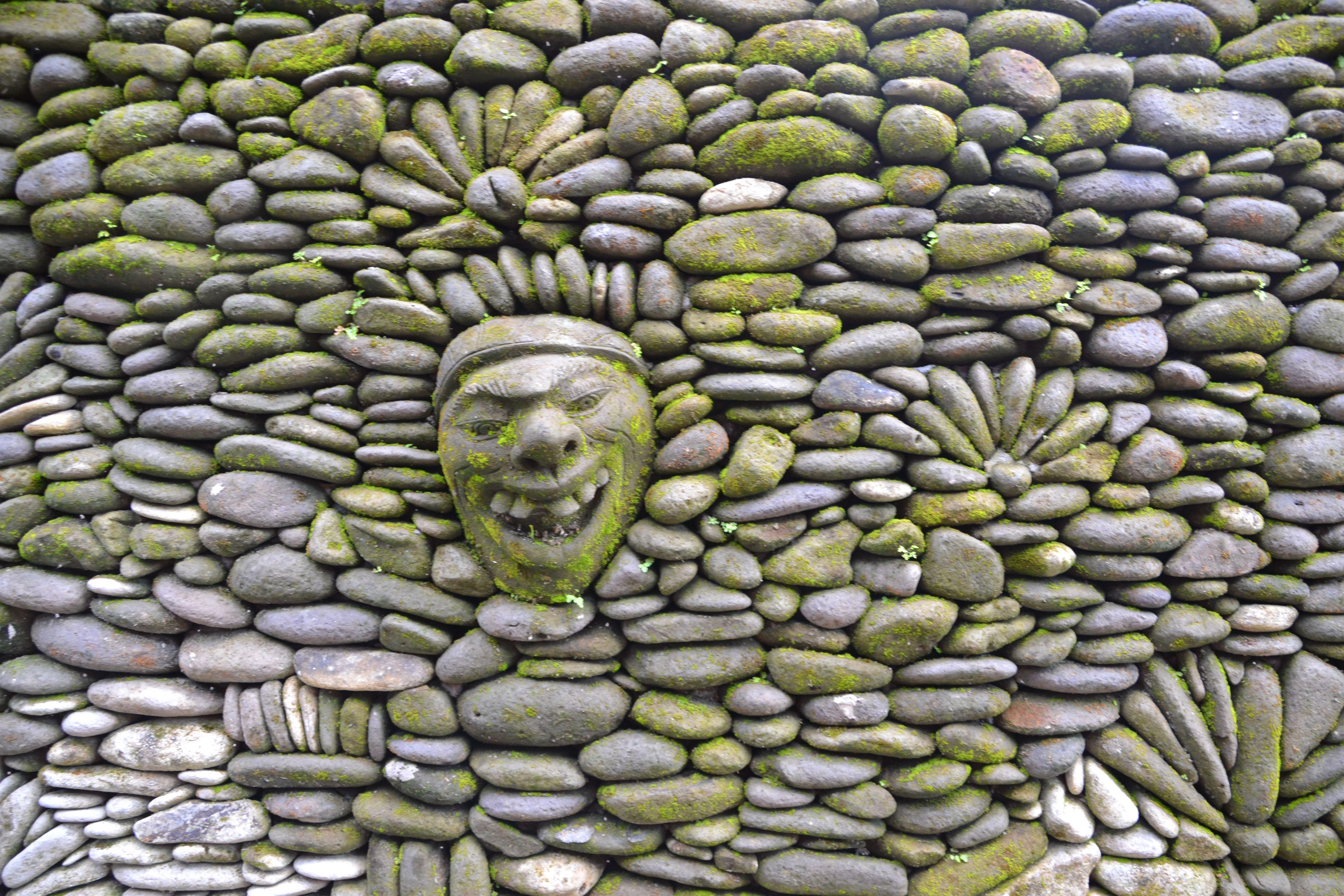 Funky Decorative Garden Stone Wall In Bali