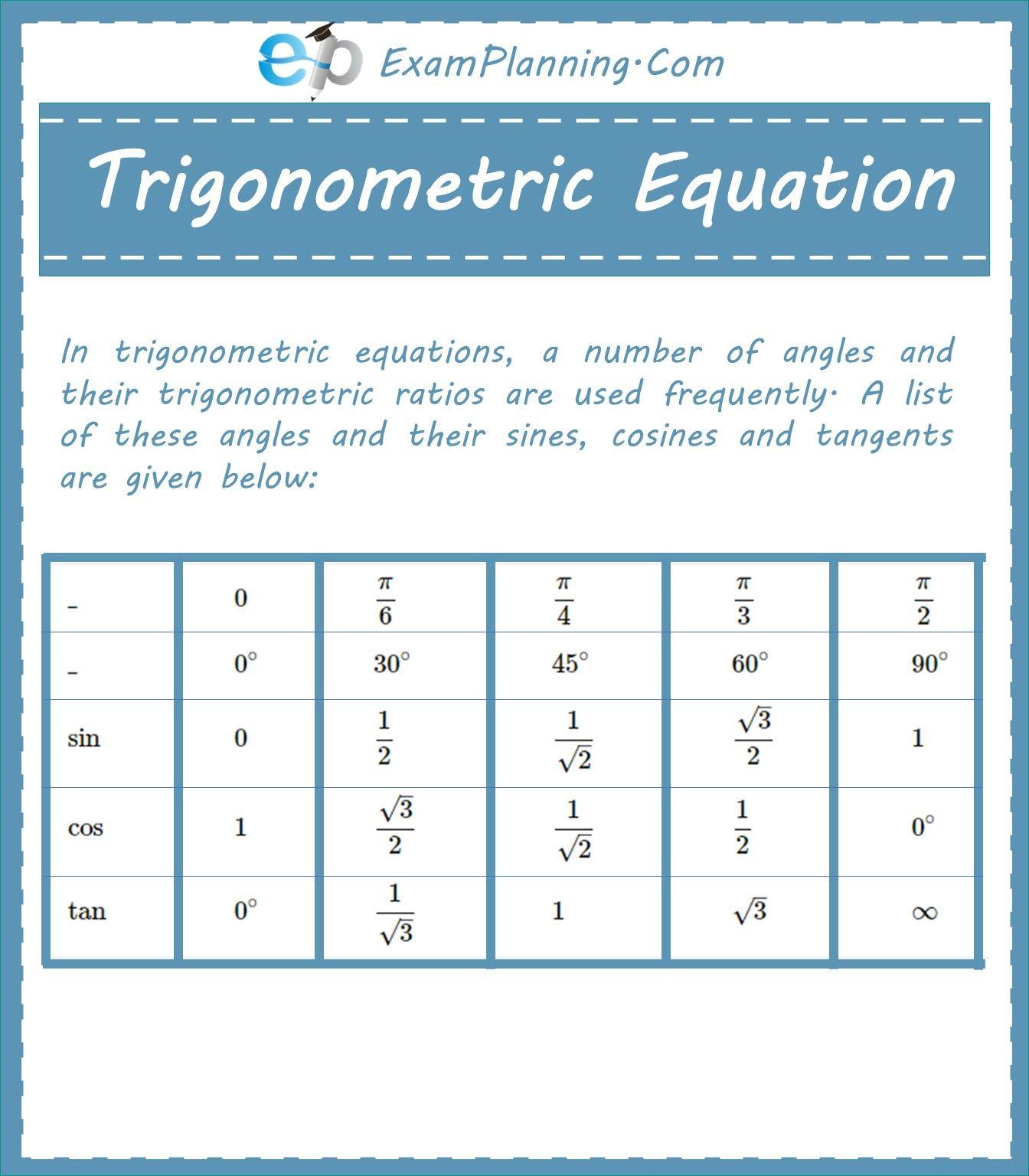Trigonometric Equation