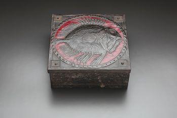 Spiny Fish Metal Repousée Box