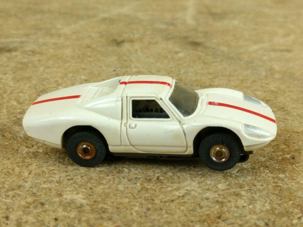 Vintage Aurora Thunderjet 500 Slot Car PORSCHE 906 WHITE
