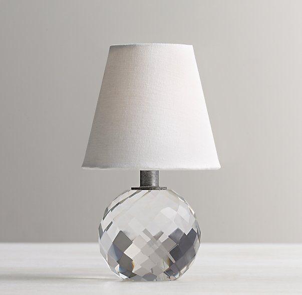 Mini Lourdes Crystal Ball Lamp With Shade Kids Lightingtable Lightingside Table Lampsside Tablesrestoration Hardware