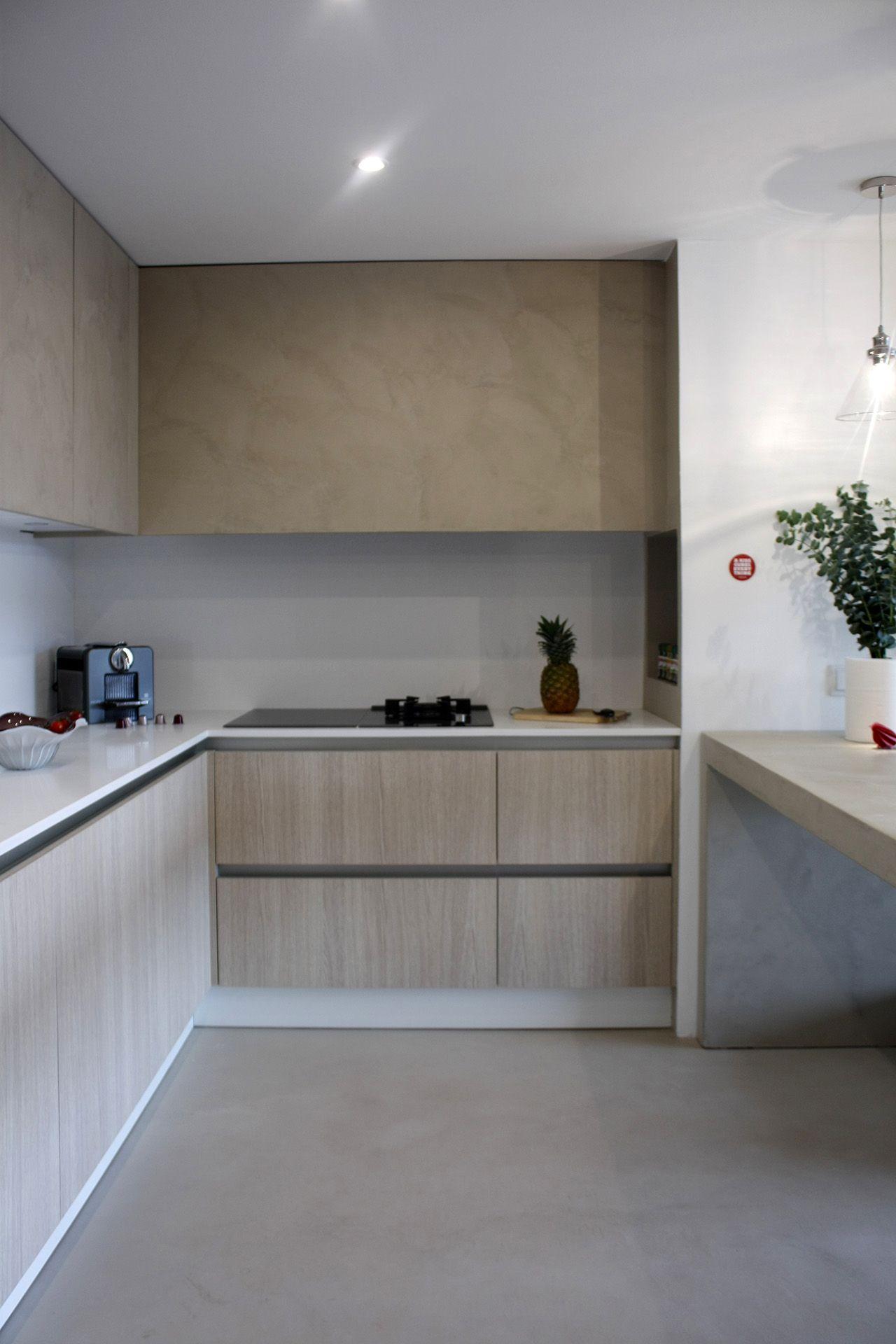 Cocina de microcemento y madera www.victoriaaragones.com | Cocinas ...