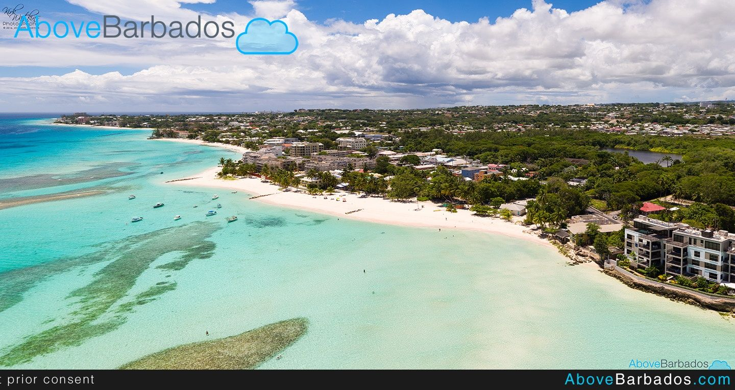 Worthing Beach Barbados A Super Spot For Snorkeling And Swimming With Turtles Aerial Photo Scenic Tours Barbados