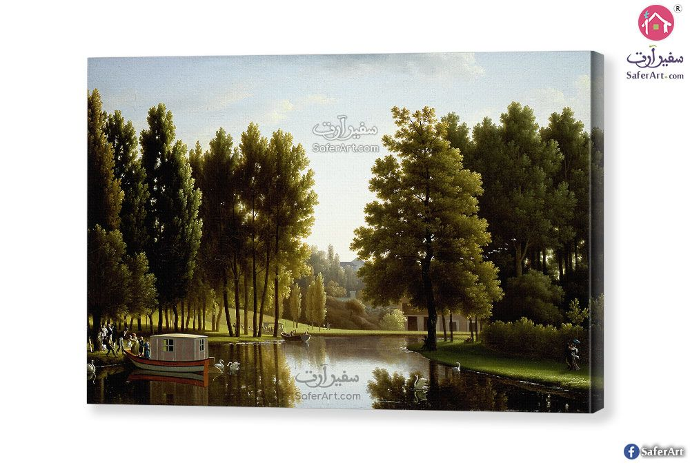 تابلوه اشجار وبحيره سفير ارت للديكور Painting Lake Art