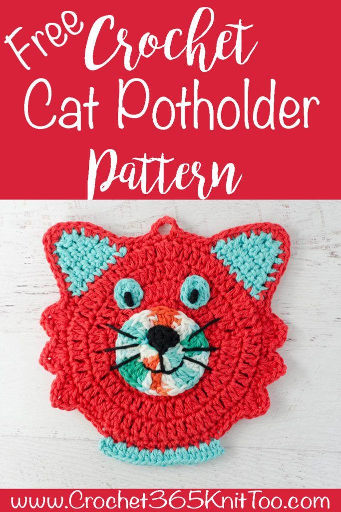 Crochet Cat Potholder Pattern | Häkeln | Pinterest | Häkeln, Häkeln ...