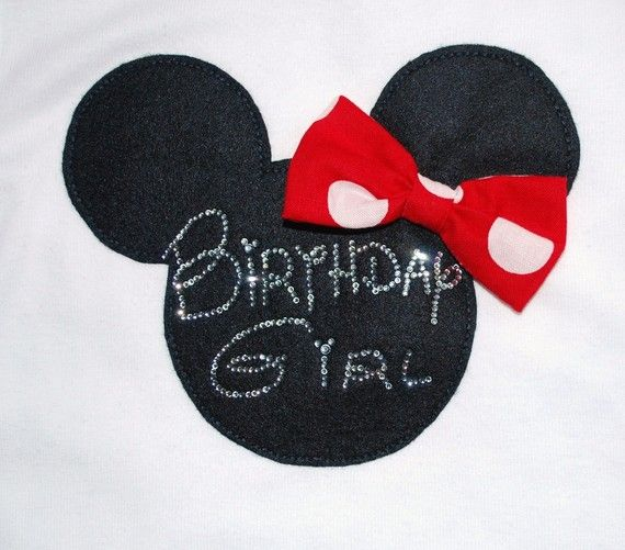 Minnie Mouse Tank Top with Rhinestone Personalization  Pink or Red Bow. $25.00, via Etsy.