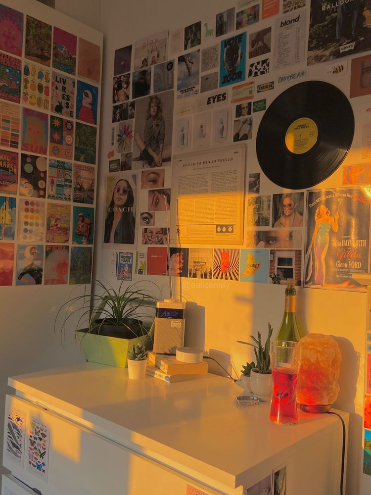 #vintage aesthetic retro bedroom ideas 🧃 | Chambre vintage ...