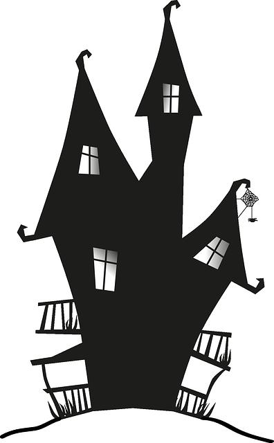 scherenschnitt hexenhaus schauriges ganz furchtlos basteln. Black Bedroom Furniture Sets. Home Design Ideas