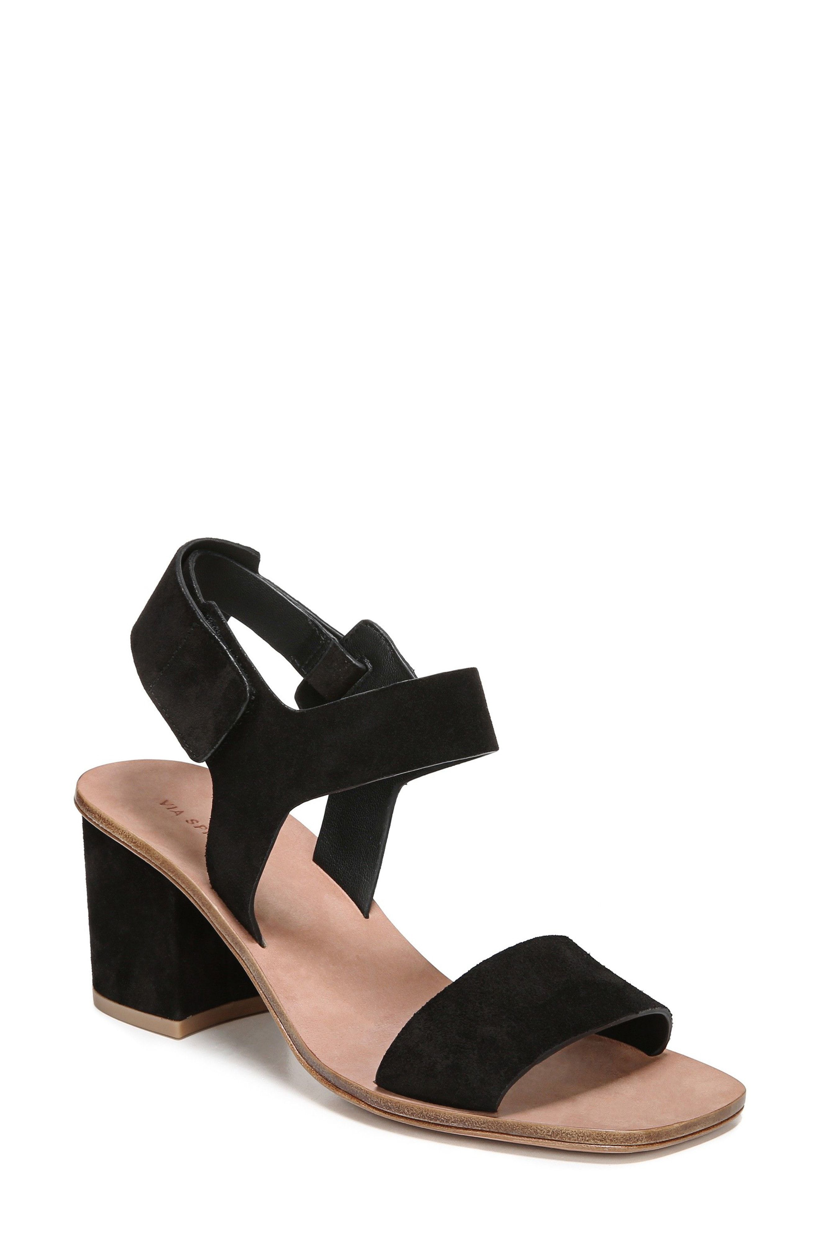 6d596520922 Via Spiga Women S Kamille Suede Block Heel Ankle Strap Sandals ...