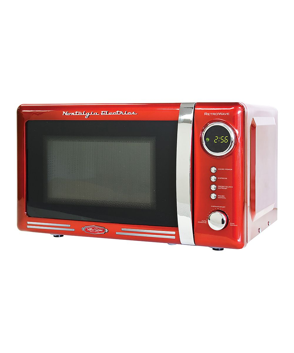 Red Retro Microwave Oven Daily Deals For Moms Babies And Kids