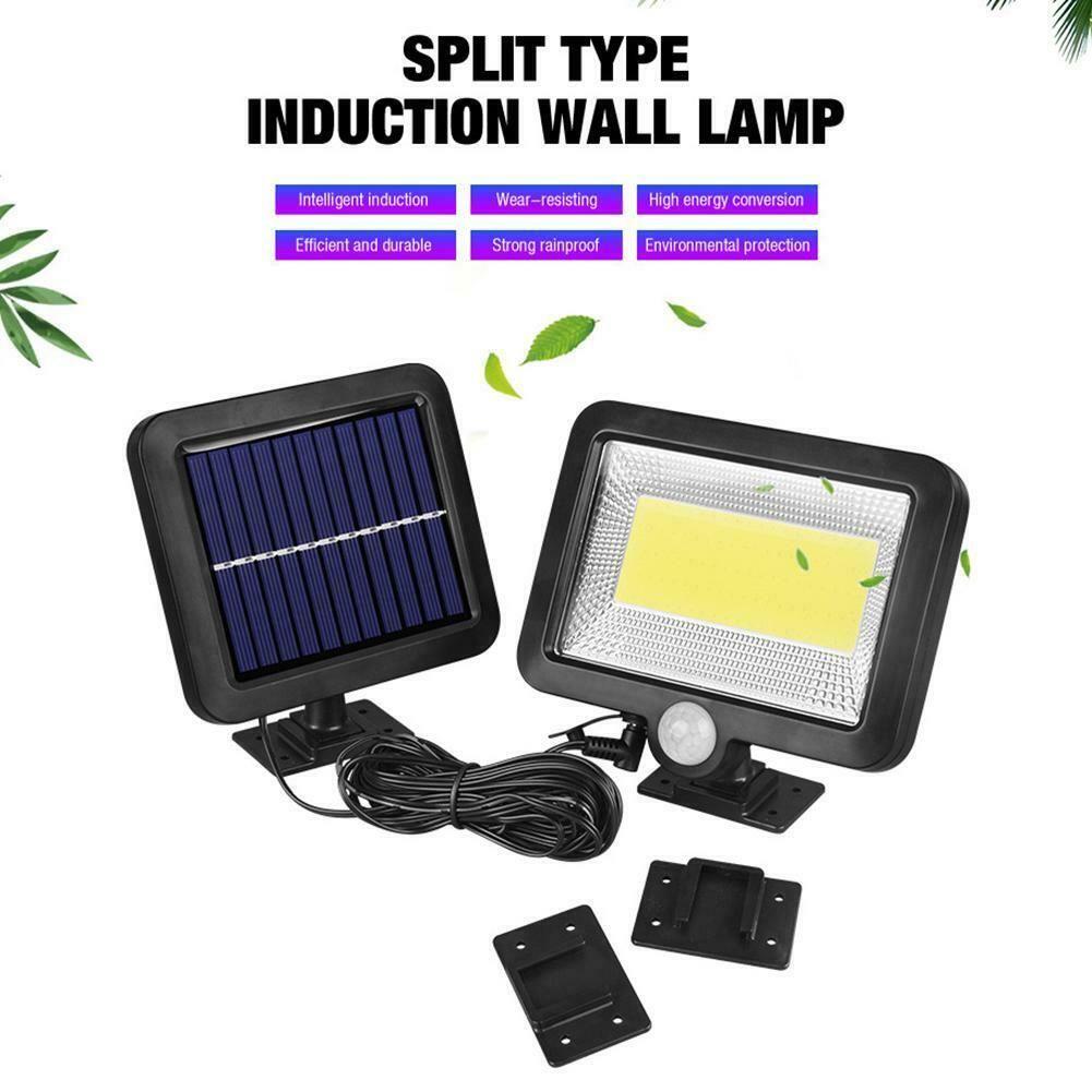 100LED COB Solar Lamp Motion Sensor Waterproof Outdoor Security Garden Way Light