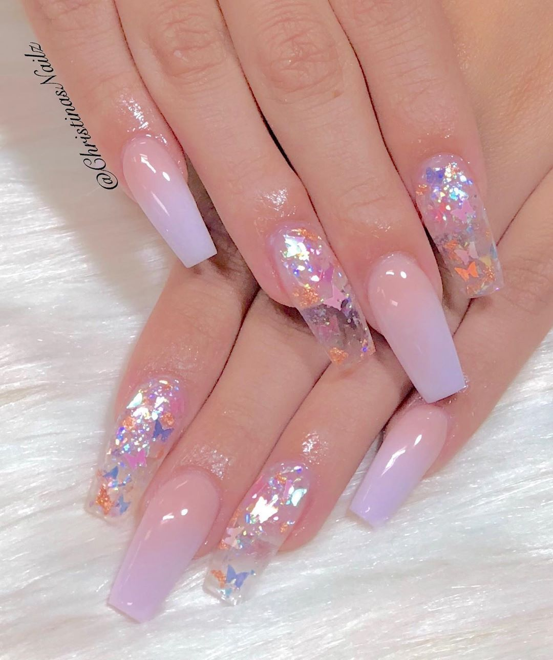 Christinas Nailz On Instagram Another Pretty Purple In 2020 Purple Acrylic Nails Summer Acrylic Nails Pretty Acrylic Nails