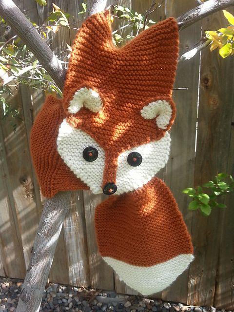 Fox Scarf - kostenlose Anleitung ----- weitere, sehr gute Anleitung: http://www.gina-michele.com/2015/03/fox-scarf-knitting-pattern-women-child.html