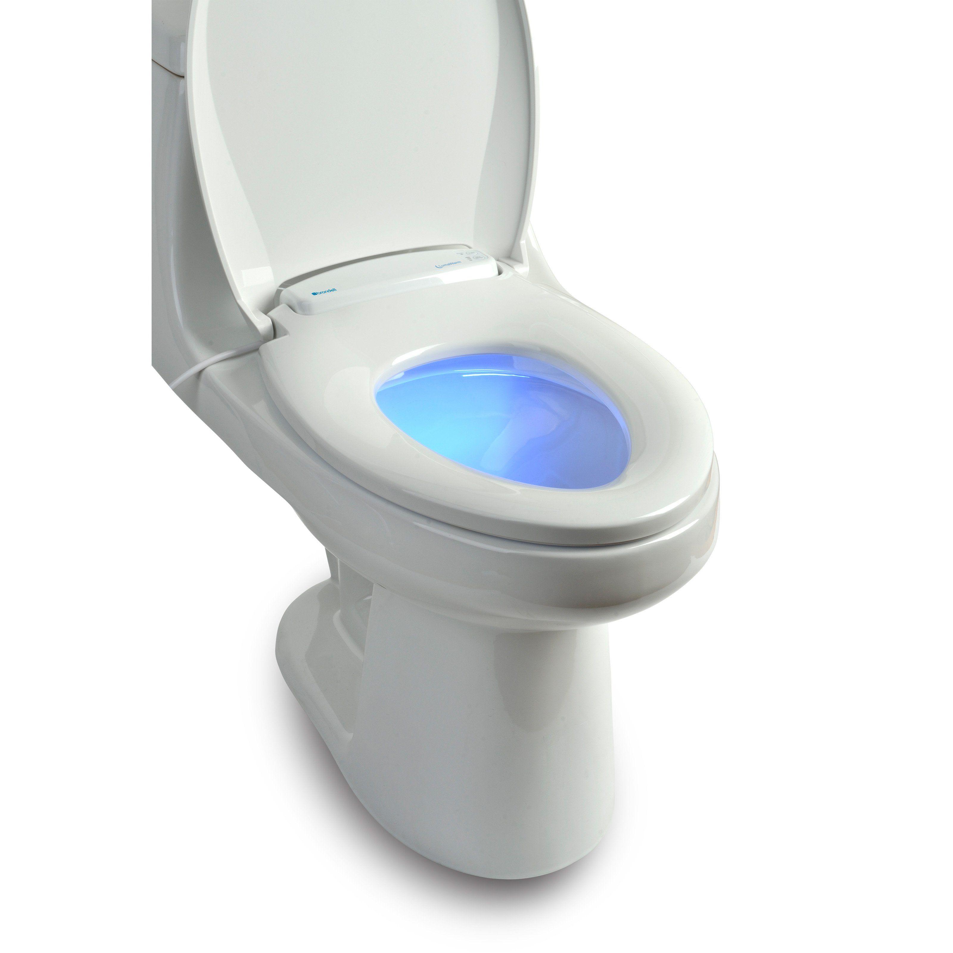 Brondell Lumawarm Heated Nightlight Toilet Seat L60 Ew Toilet