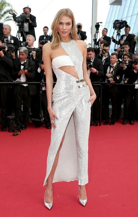 Karlie Kloss in Atelier Versace at Cannes 2015