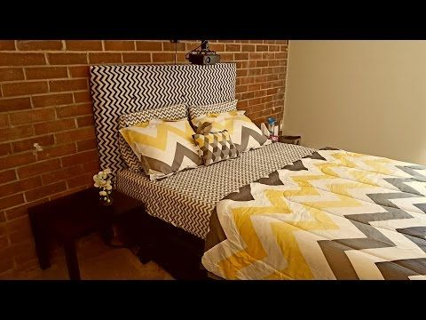 Custom Cardboard Tufted Headboard YouTube