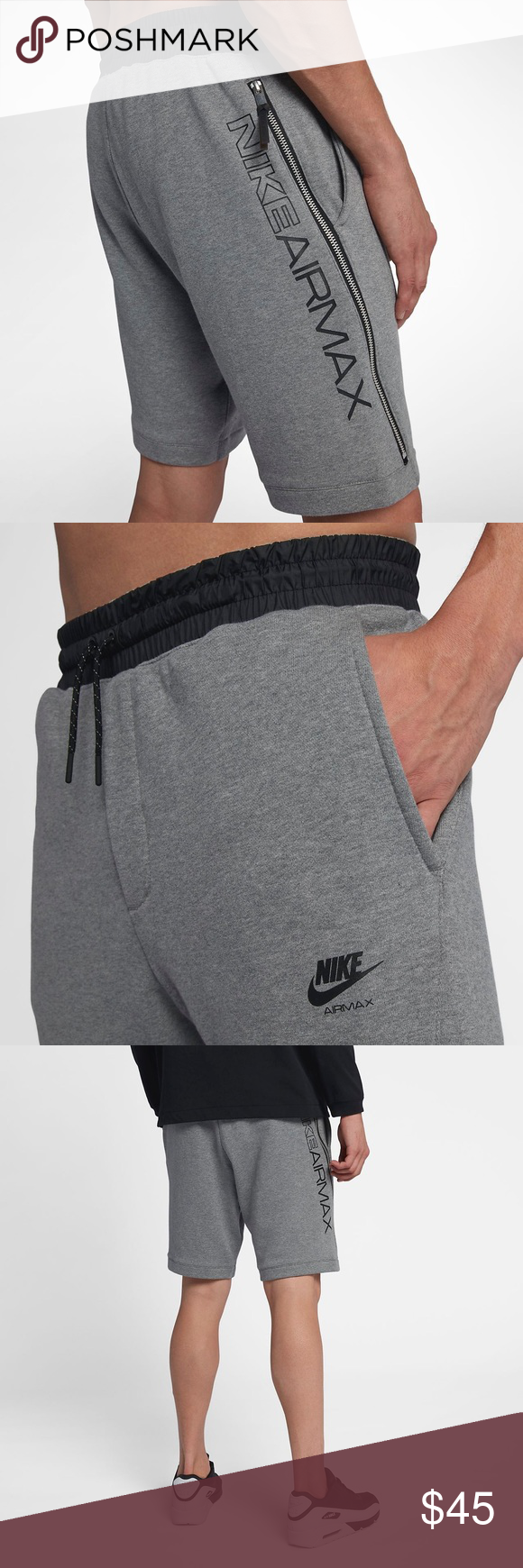b94166b296b MENS NIKE AIR MAX FRENCH TERRY SHORTS | NWT ☑ Item is brand with tags