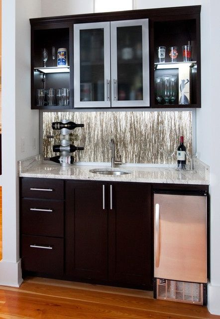 Wet+Bars+for+Small+Spaces | Wet bar ideas | Small wet bars ...