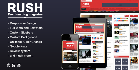 Rush - WordPress Blog & Magazine Theme (Blog / Magazine) - Template ...
