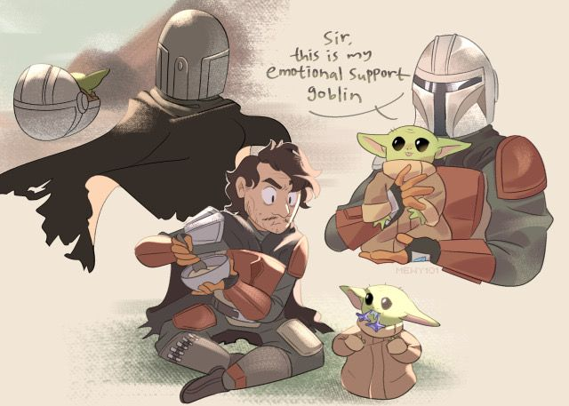 Emotion Support Goblin The Child The Mandalorian In 2020 Funny Star Wars Memes Star Wars Art Star Wars Memes