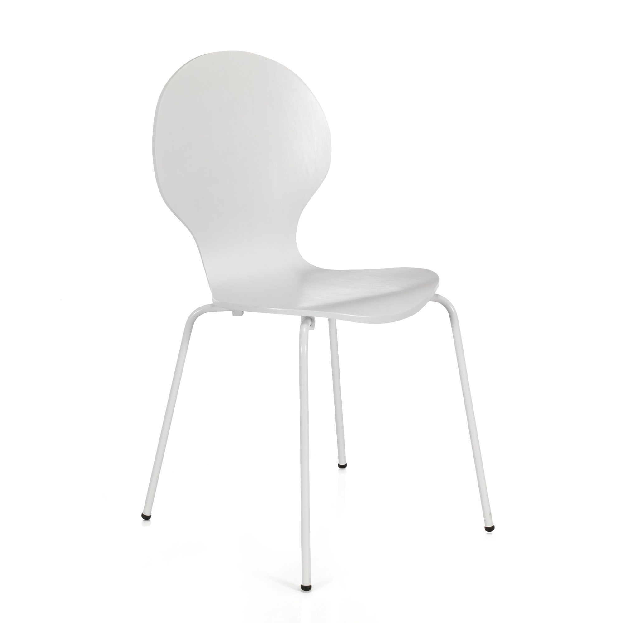 Chaise De Salon Blanche Chaise Blanche Rétro Maddy Chaises Tables Chaises Salon