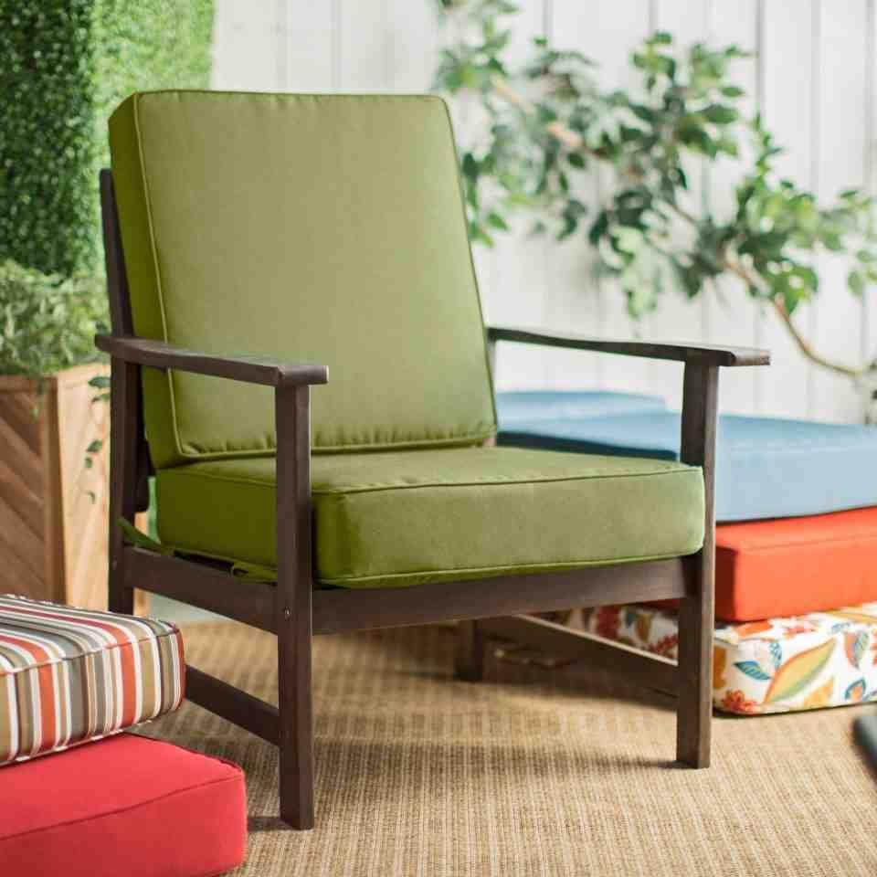 Green Patio Chair Cushions Seat