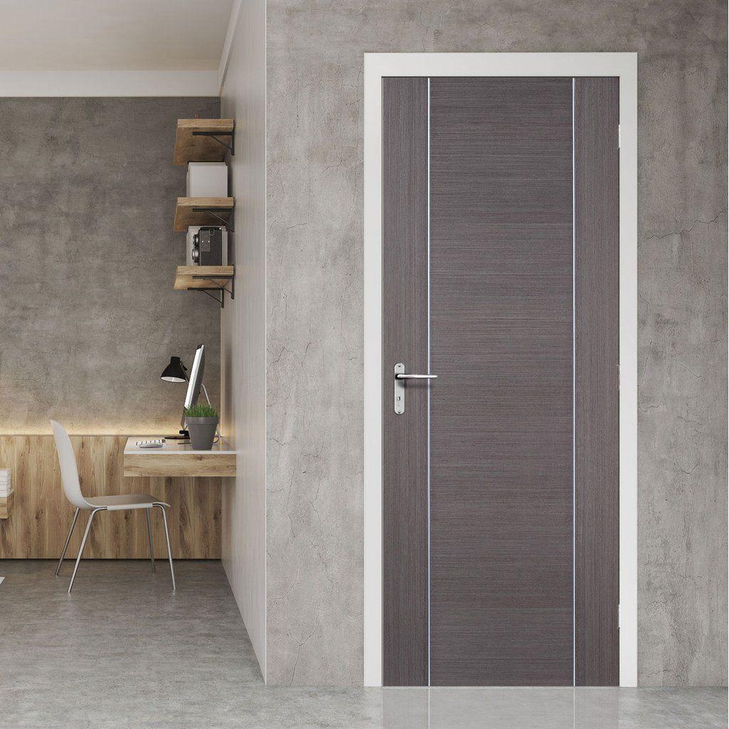 Bespoke Chocolate Grey Alcaraz Door Prefinished Grey Internal Doors Internal Doors Fire Doors