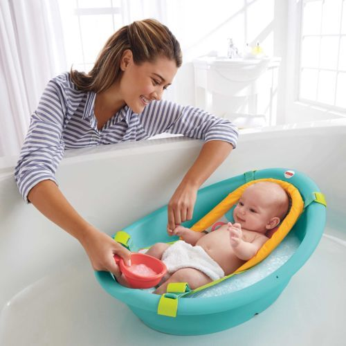 Baby Bath Tub Fisher Price Rinse N Grow Infant Shower Safety 3