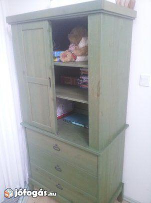 Zöld színű IKEA szekrény  c69e28bdfe