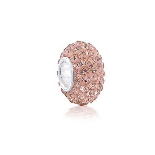 Bling Jewelry Silber Champagne Pfirsich Swarovski Kristall Bead Pandora kompatibel - http://schmuckhaus.online/bling-jewelry/bling-jewelry-silber-champagne-pfirsich-bead