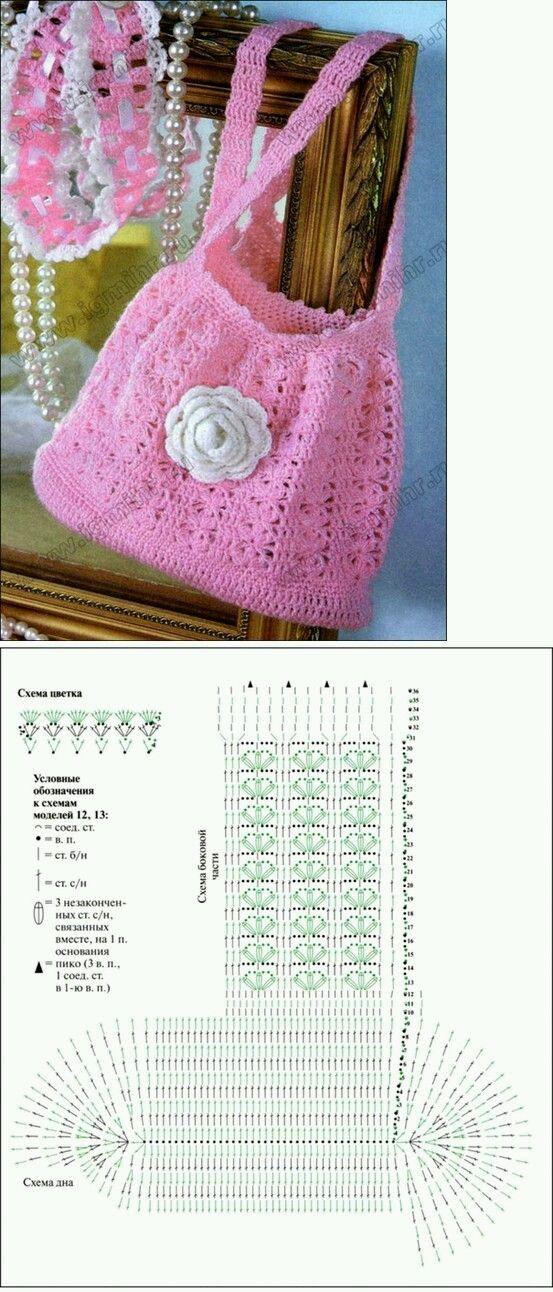 Carteras Tejidas A Crochet Con Patrones Y Gr 193 Ficos Gratis