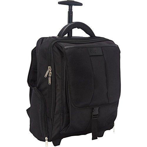 Bugatti Rolling 15 Laptop Backpack Black Lateral Zippered Pockets 2 Size One Size Hybrid Backpack On Wheels Overni Cheap Sports Cars Bugatti Backpacks