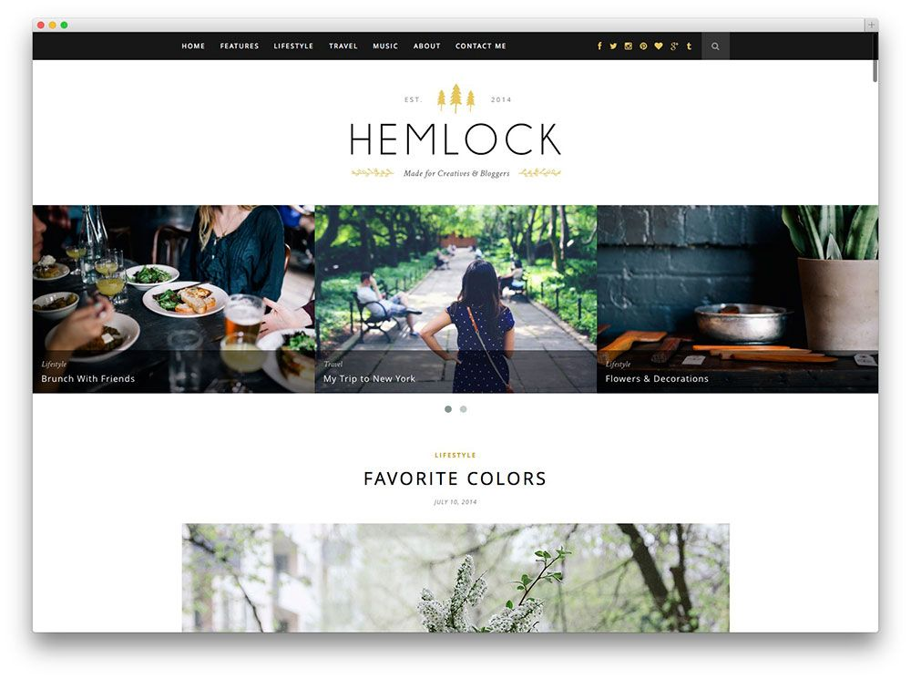 Hemlock food blog template food theme pinterest template a hand picked list of the best food wordpress themes designed and developed to showcase food recipes in a beautiful and professional manner forumfinder Images