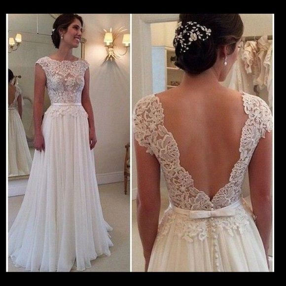 Gorgeous One-of-a-Kind Vintage Style Wedding Dress High