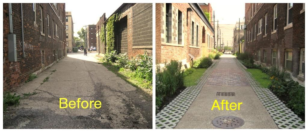 High Quality Detroit Midtown Green Garage Alley   Before And After