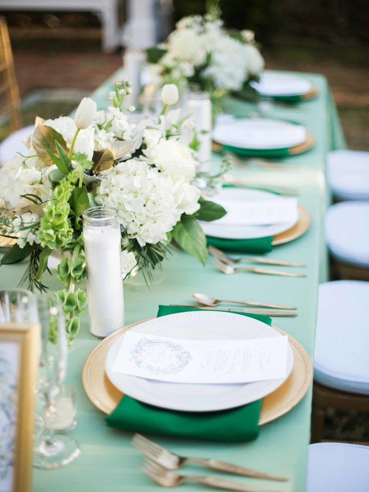 Gold + Green Wedding Inspiration at Burgwin Wright House